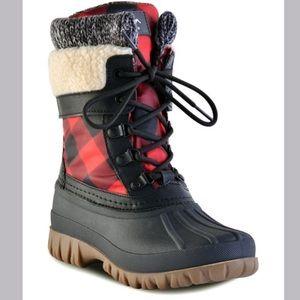 Cougar Red & Black Buffalo Check Waterproof Boot